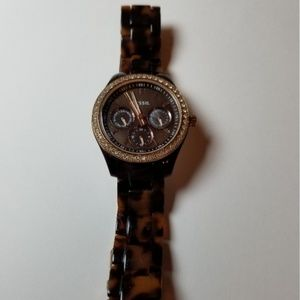 Fossil Accessories - Fossil Tortoiseshell Stella Ladies Watch